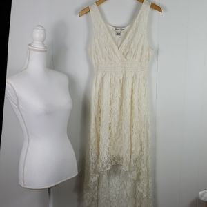 Jessica Taylor : Vintage Cream Lace High Low Dress